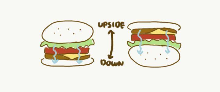햄버거를 거꾸로 먹어야하는 이유.gif 사진