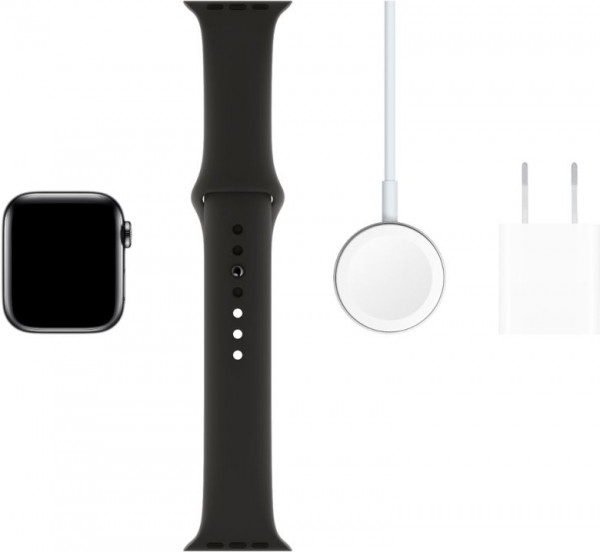 [BestBuy] Apple Watch 5 40mm Space Black Stainless + Sport Band ($379 /미국무배) 사진
